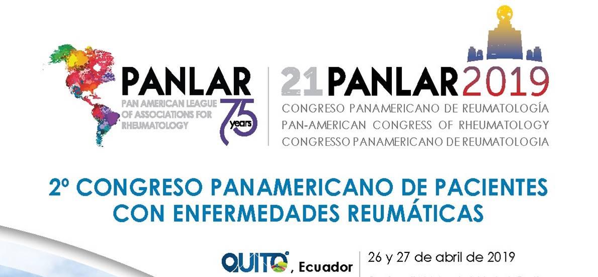 2do Congreso de Panamericano pacientes con enfermedades reumáticas Ecuador 2019