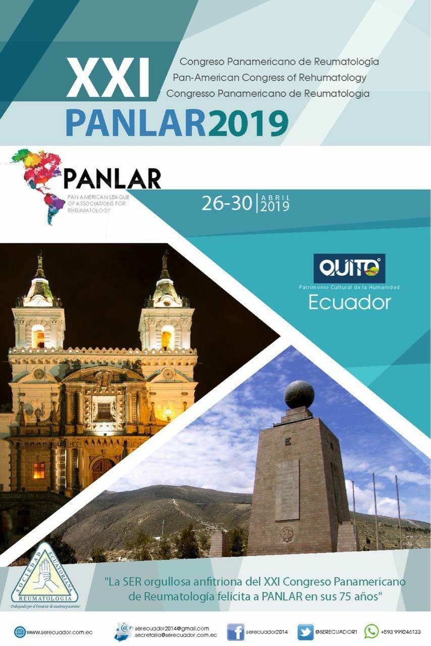 PANLAR ECUADOR 2019- 26 AL 30 DE ABRIL – QUITO