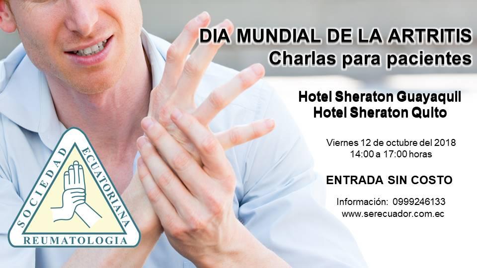DÍA MUNDIAL DE LA ARTRITIS, Charla para pacientes