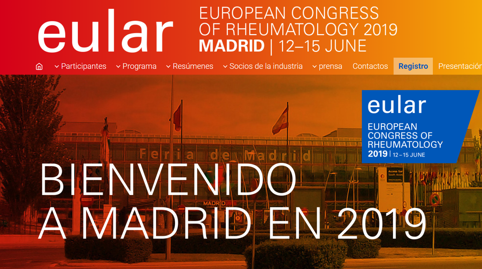 EULAR 2019 – 12-15 JUNIO Madrid