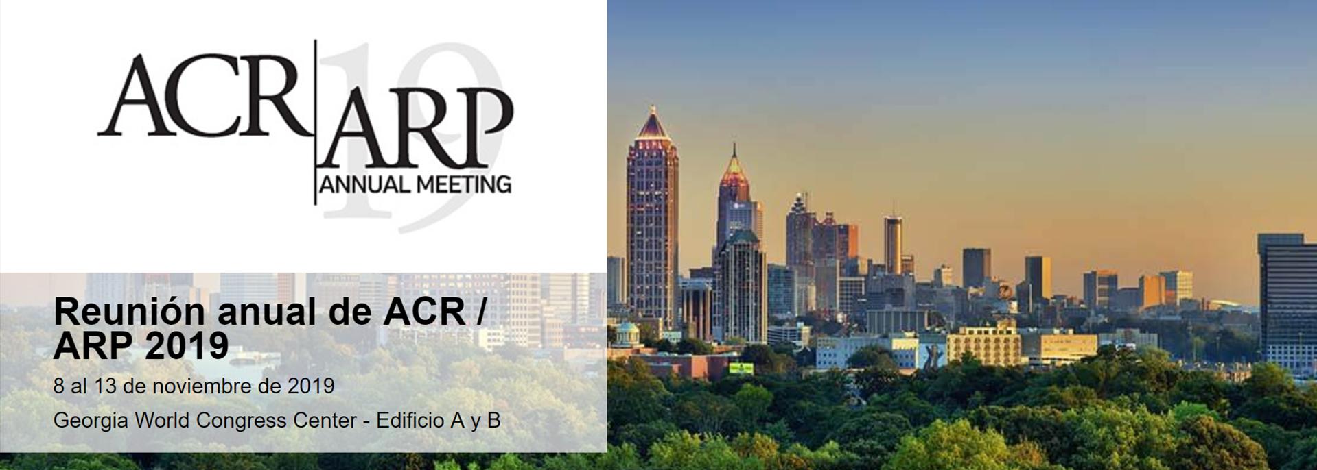 2019 ACR/ARP Annual Meeting